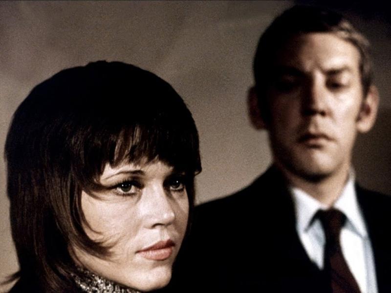 Jane Fonda and Donald Sutherland in Klute