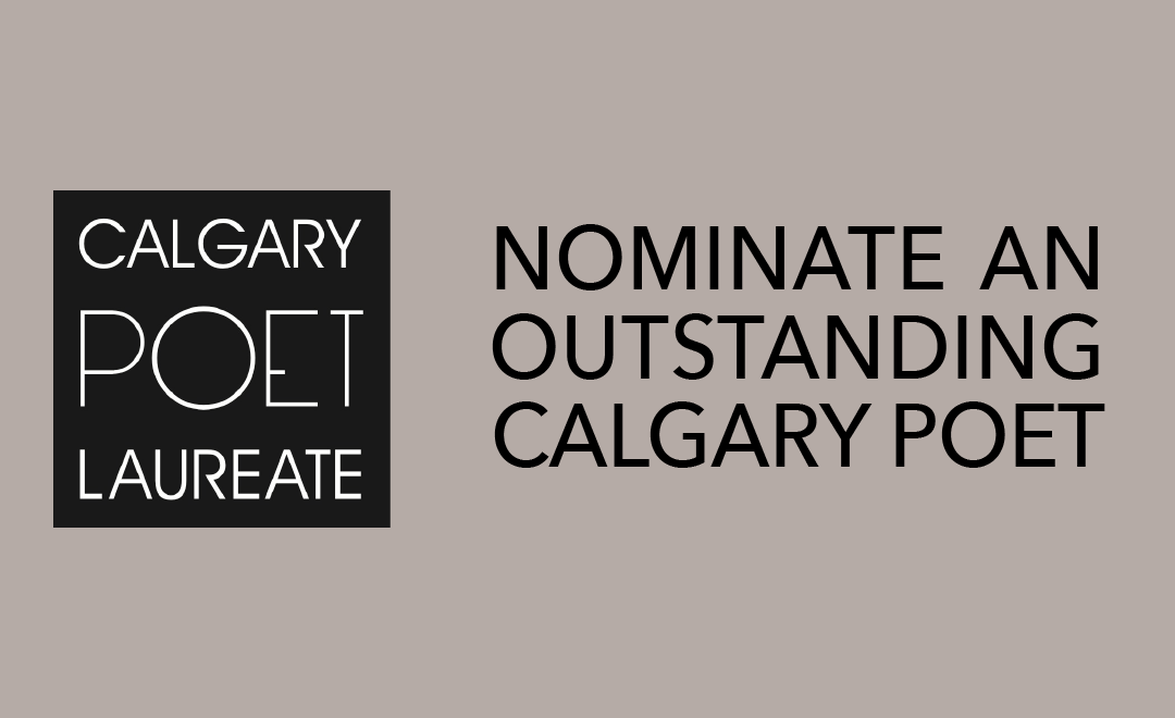 Nominate an Outstanding Calgary Poet