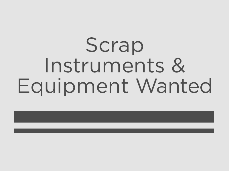 Image wanted - Scrap instruments and equipment