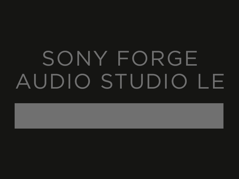 Image feature - Sony Forge Audio Studio Le
