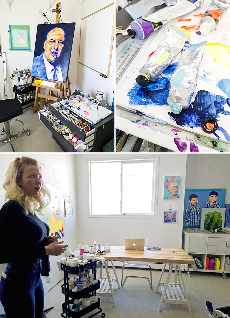 Anna Hall shows off her studio in Voltage Creative's new space