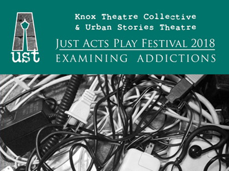 Poster for Just Acts Play Festival 2018