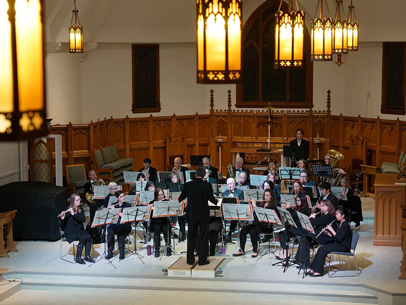 Photo of the Foothills Concert Band performing