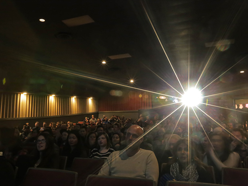The audience at the Calgary Underground Film Festival