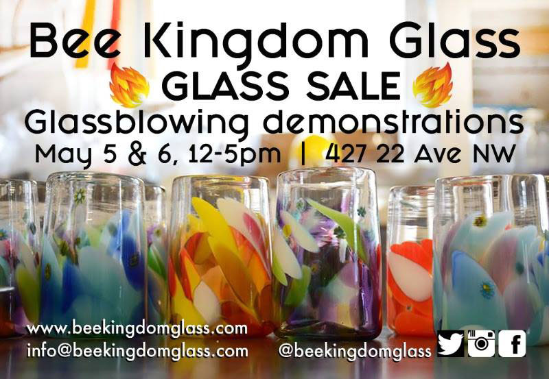Poster for Bee Kingdom Glass Open Studio May 2018