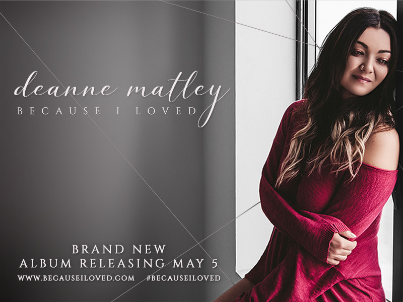 Poster for Deanne Matley's Matley Because I Loved new album celebration