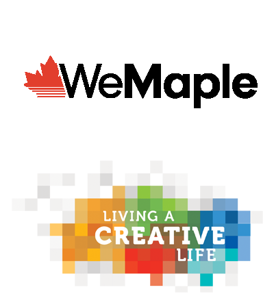 WeMaple and Living a Creative Life Logos