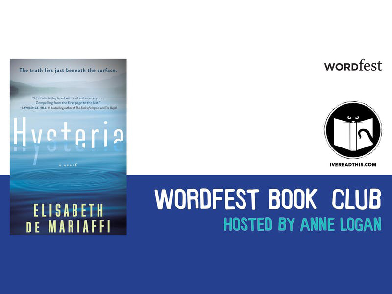 Poster for Wordfest Book Club April 2018