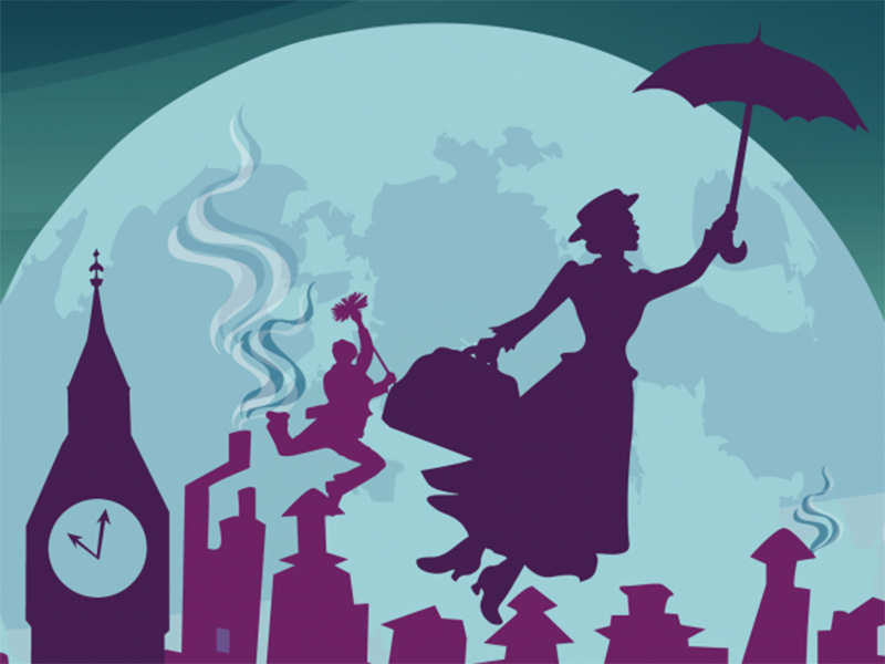 Poster for Storybook Theatre's Mary Poppins