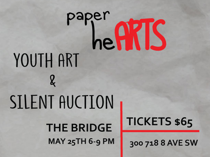 Poster for Paper heARTS Fundraiser