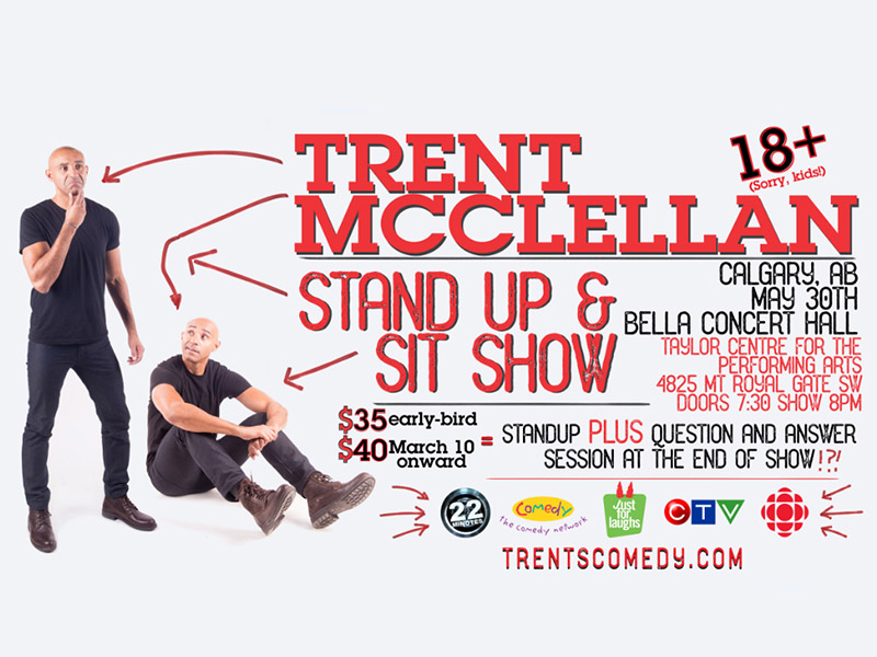 Poster for Trent McClellan's Stand Up and Sit Show