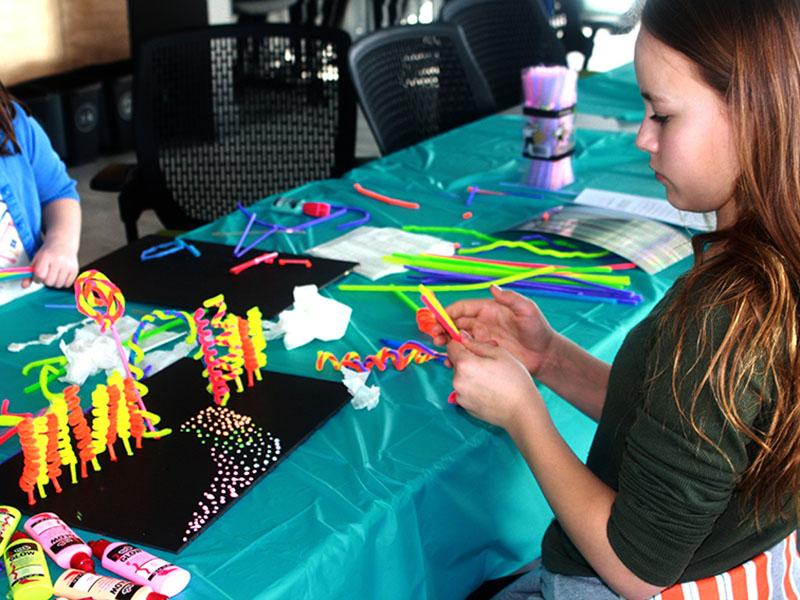 Photo of a girl creating at Contemporary Kids at cSPACE King Edward