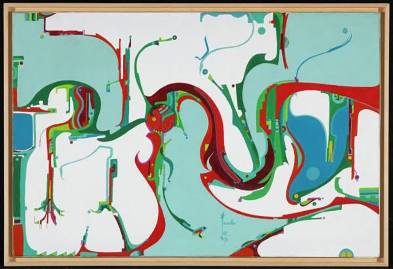 Alex Janvier's Coming of the Opposite