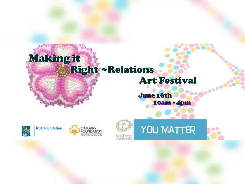 Poster for Making It Right ~ Relations Art Festival