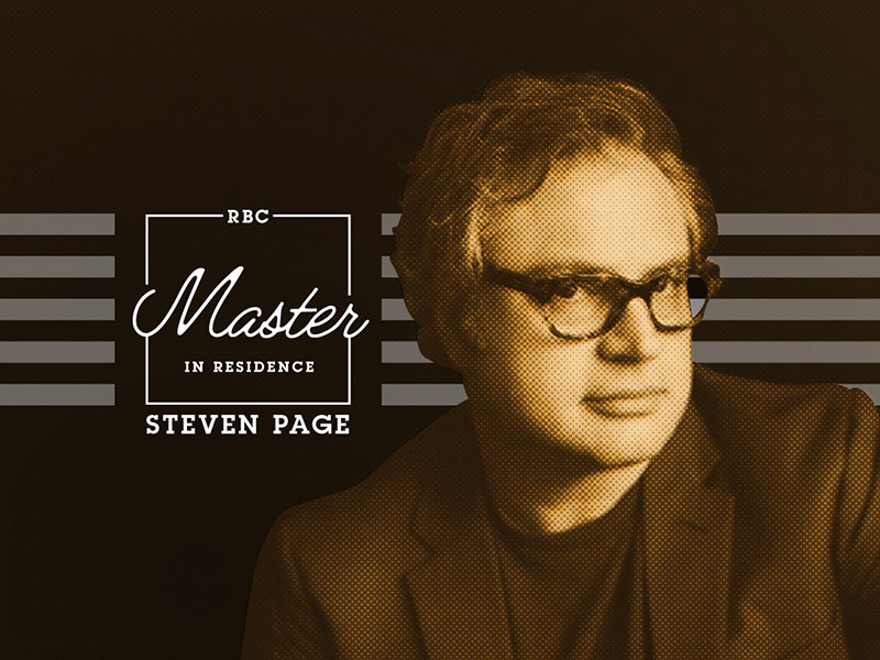 Poster for RBC Master in Residence : Steven Page