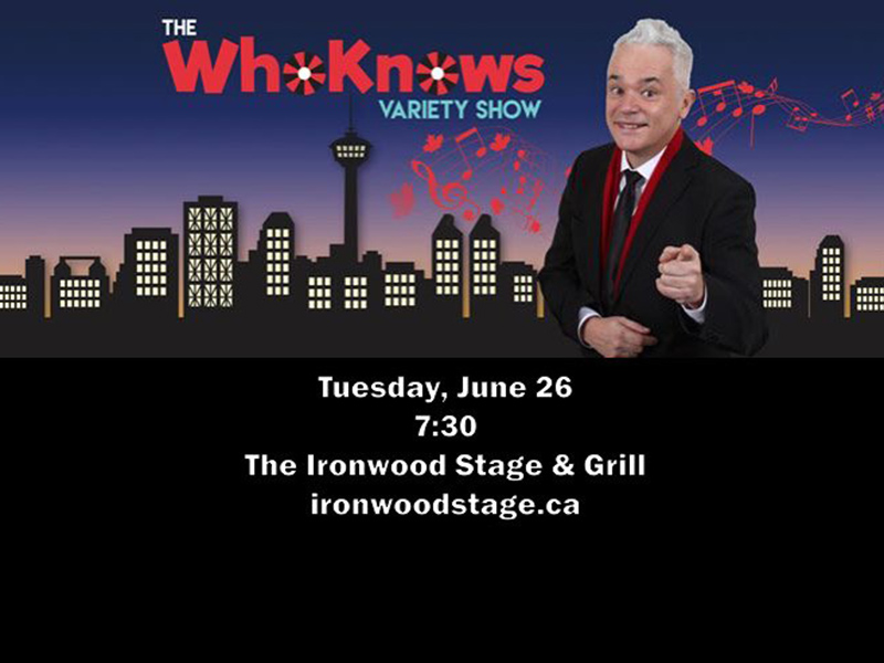 Poster for The WhoKnows Variety Show June 2018