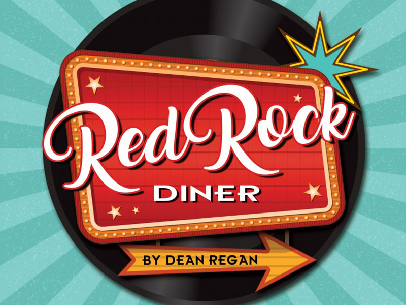 Poster for Stage West Calgary's Red Rock Diner