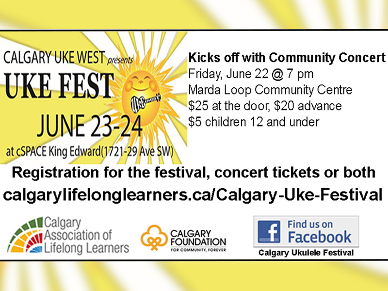 Poster for the Calgary Uke Fest Concert