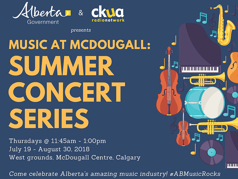 Poster for Music at McDougall: Summer Concert Series