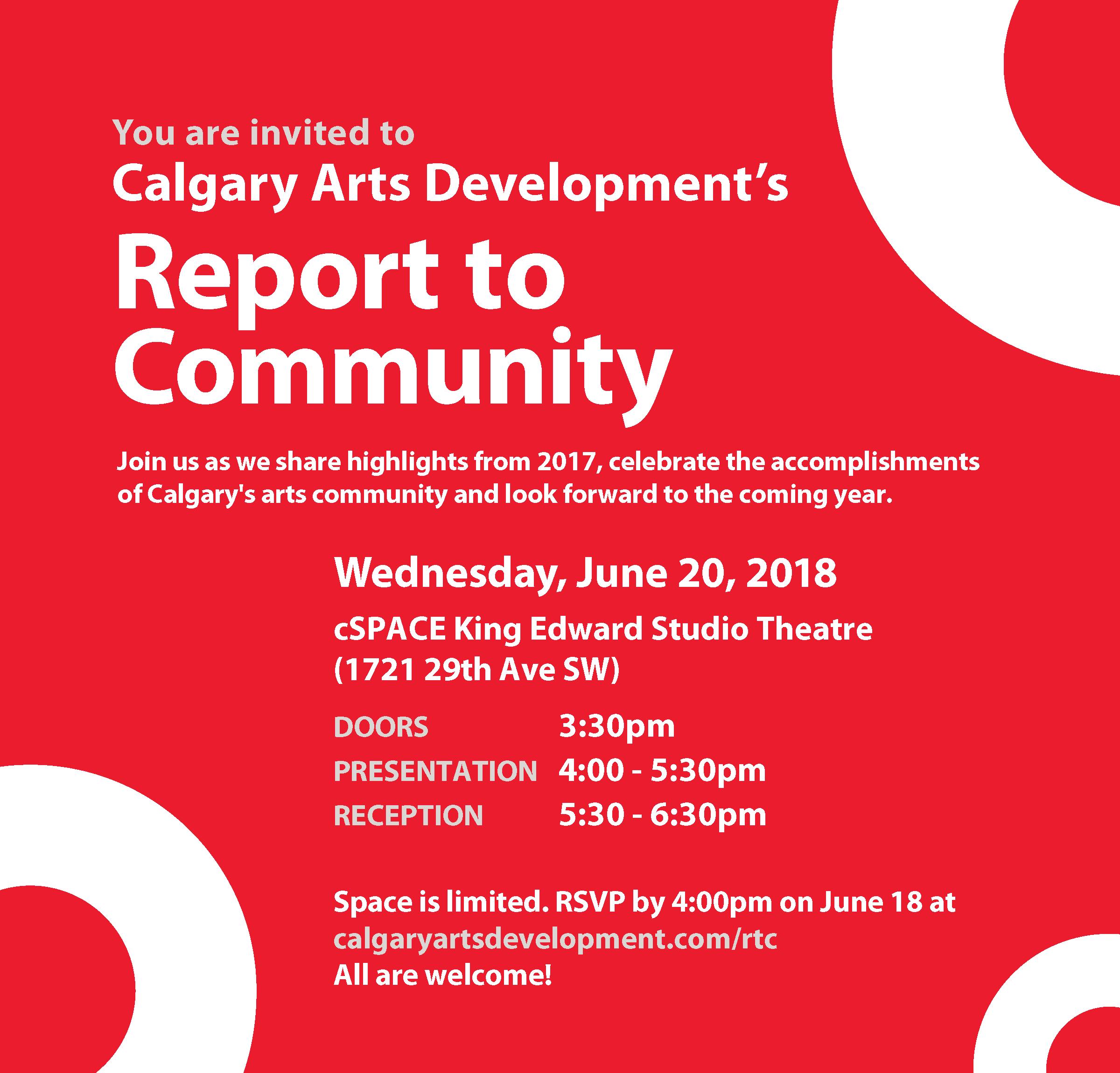 Report to Community 2018 Invite