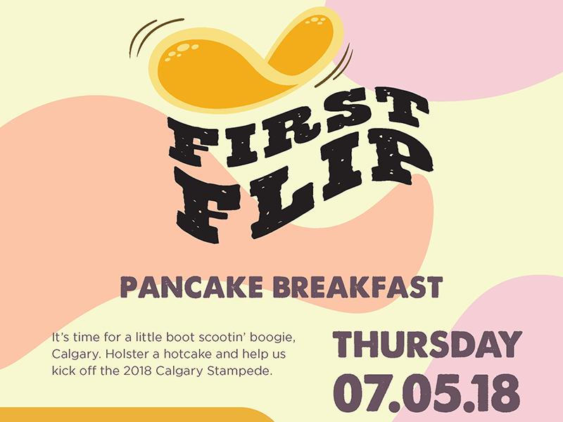 Poster for the 2018 First Flip Stampede Breakfast