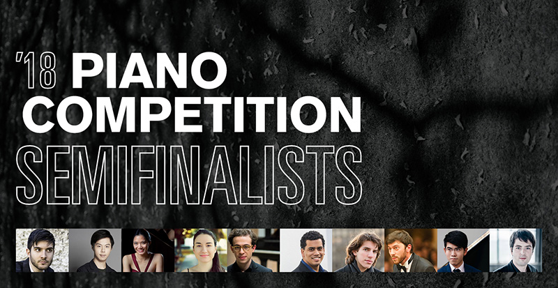 A graphic with photos of the semi-finalists