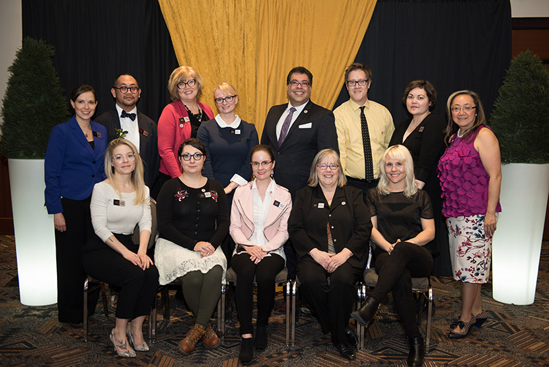 Photo of Calgary Arts Development's staff at the 2017 Mayor's Lunch for Arts Champions