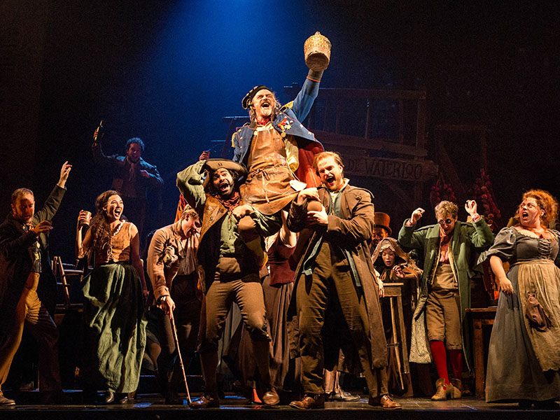 J Anthony Crane as Thenardier and company in the national touring production of Les Misérables