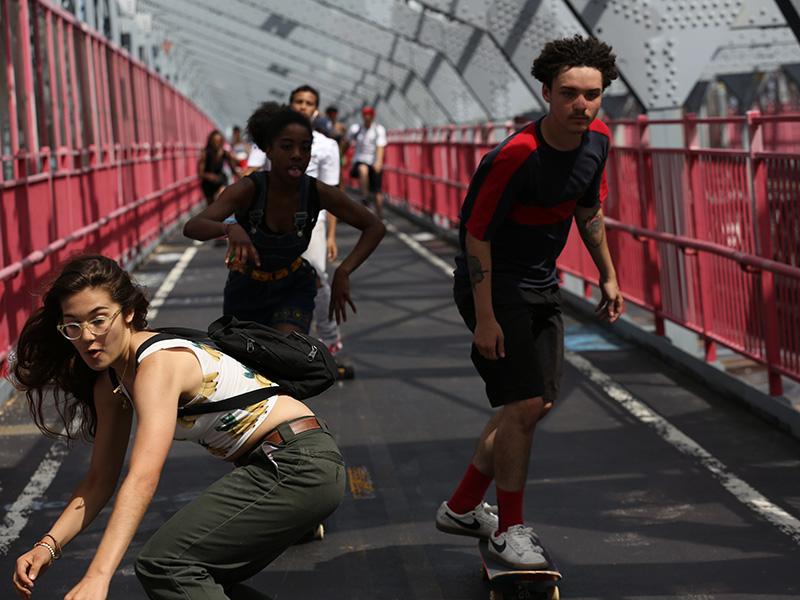 Still from the film Skate Kitchen