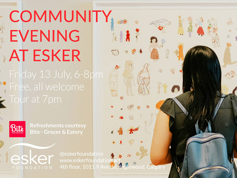 Poster for Community Evening at Esker
