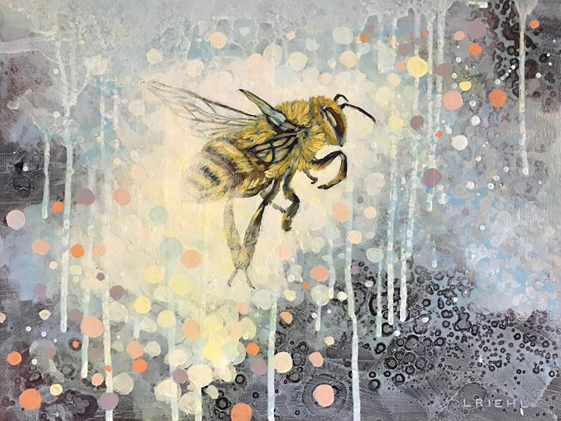 Lisa Riehl's Tricky Little Bee painting