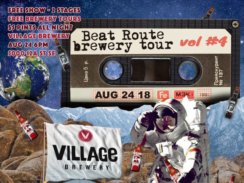 Poster for BeatRoute Brewery Tour Vol.4 Village Brewery