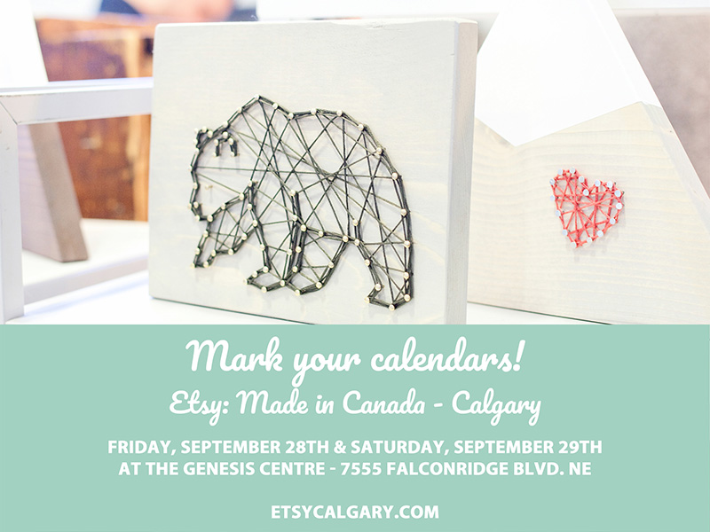 Poster for Etsy: Made in Canada Calgary 2018