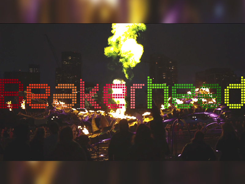 A video still from a short film about Beakerhead