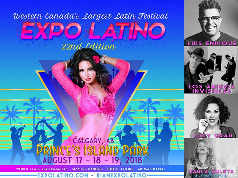 Poster for the 2018 edition of Expo Latino