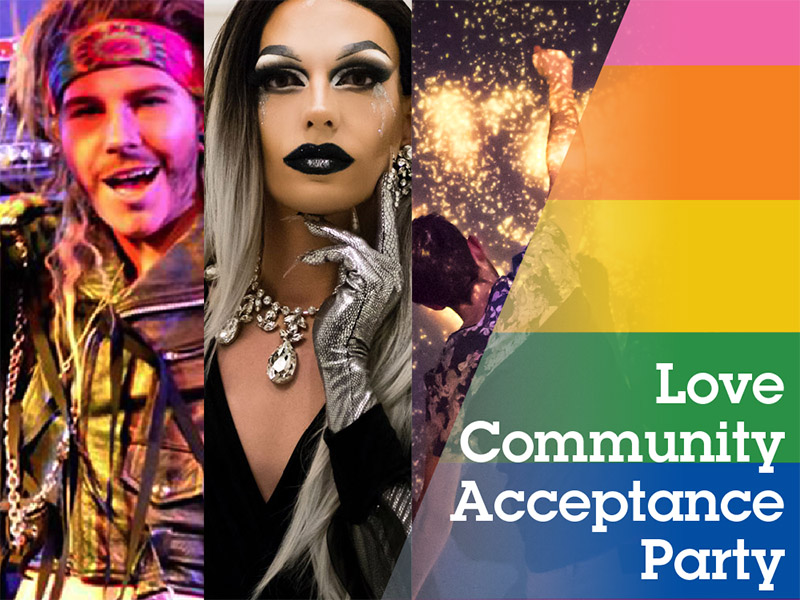 Poster for Love, Community and Acceptance Party