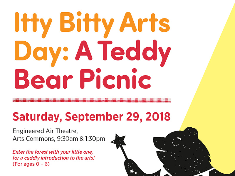A poster for Itty Bitty Arts Day at Arts Commons