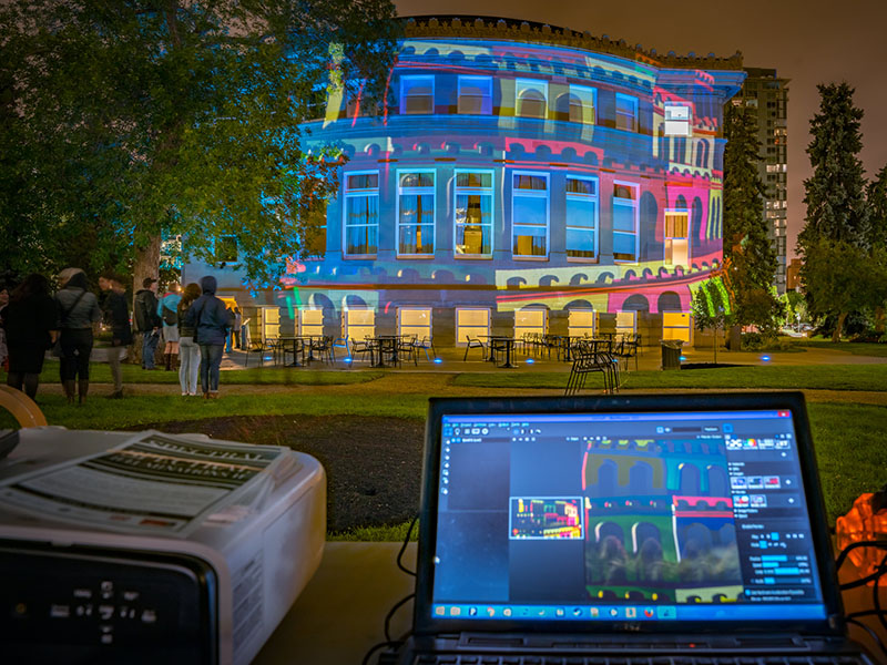 Spectral Illuminations II lights up the Memoiral Park Libary