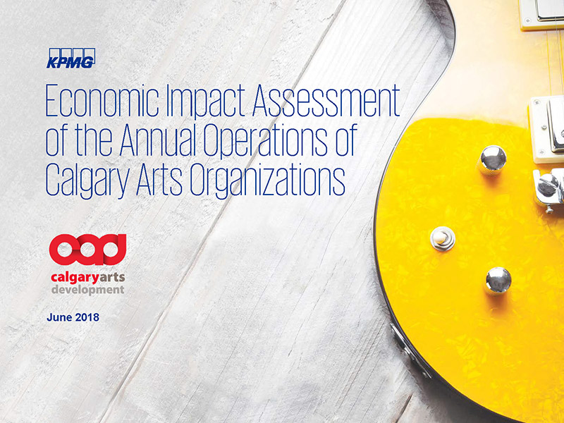 Cover of Economic Impact Assessment of Calgary Arts Organizations
