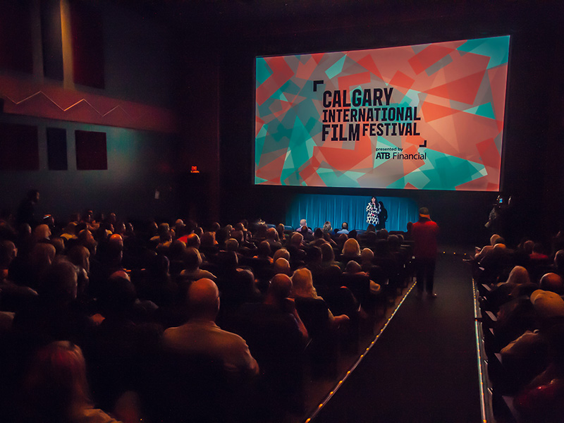 A packed theatre at the Calgary International Film Festival