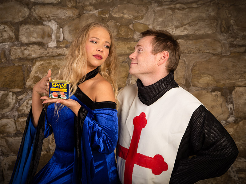 A promo photo from Front Row Centre Player's production of Spamalot