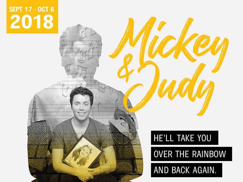 Poster for Lunchbox Theatre's production of Mickey & Judy