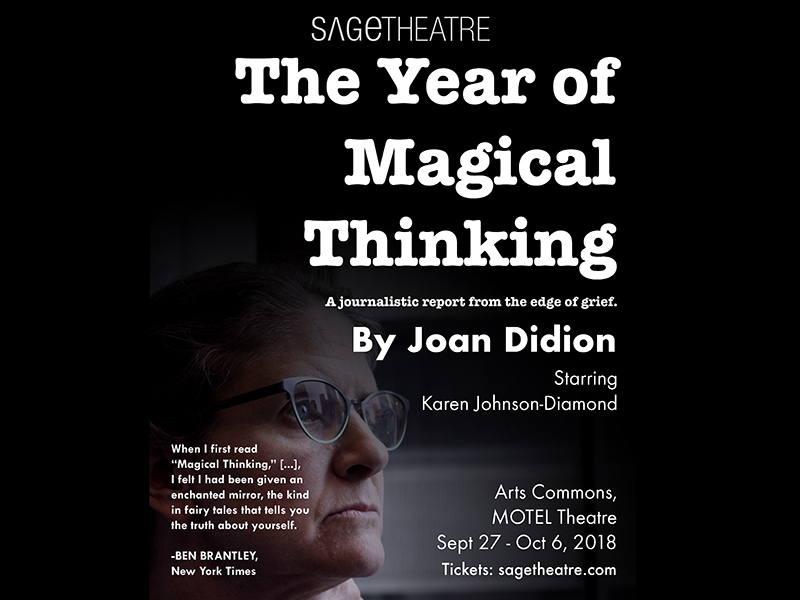 Poster for Sage Theatre's The Year of Magical Thinking