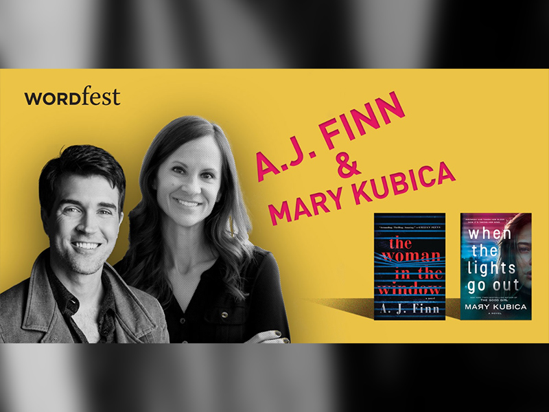 Promo image for Wordfest Presents A.J. Finn & Mary Kubica