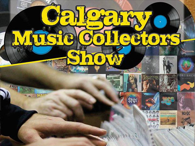 Poster for theCalgary Music Collectors Show on October 21, 2018