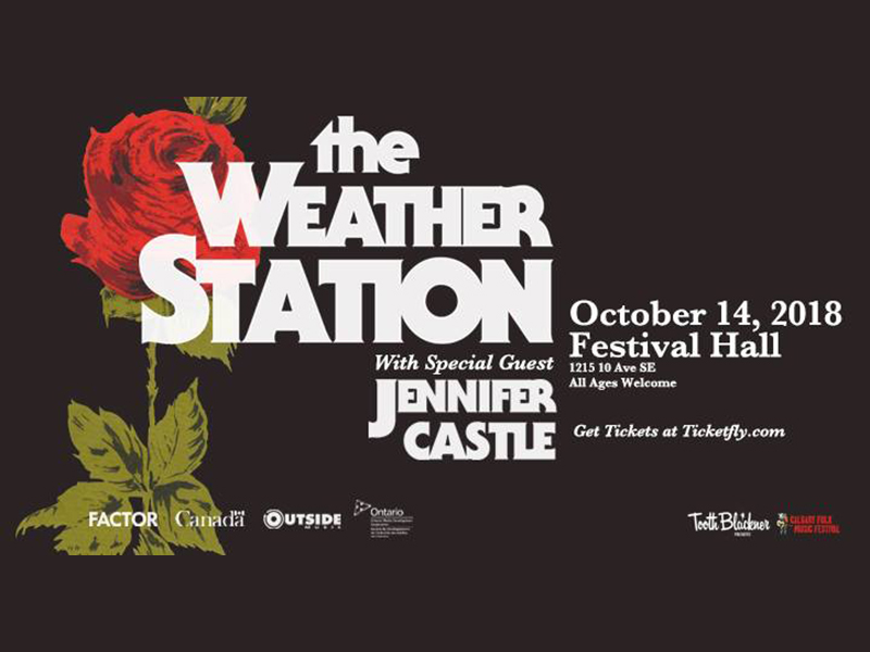 Poster for The Weather Station at Festival Hall
