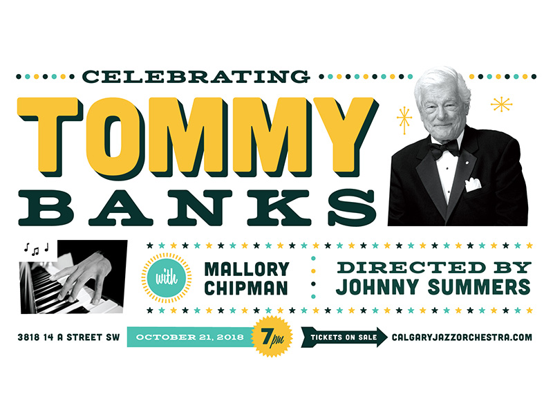 Poster for the Calgary Jazz Orchestra for Celebrating Tommy Banks