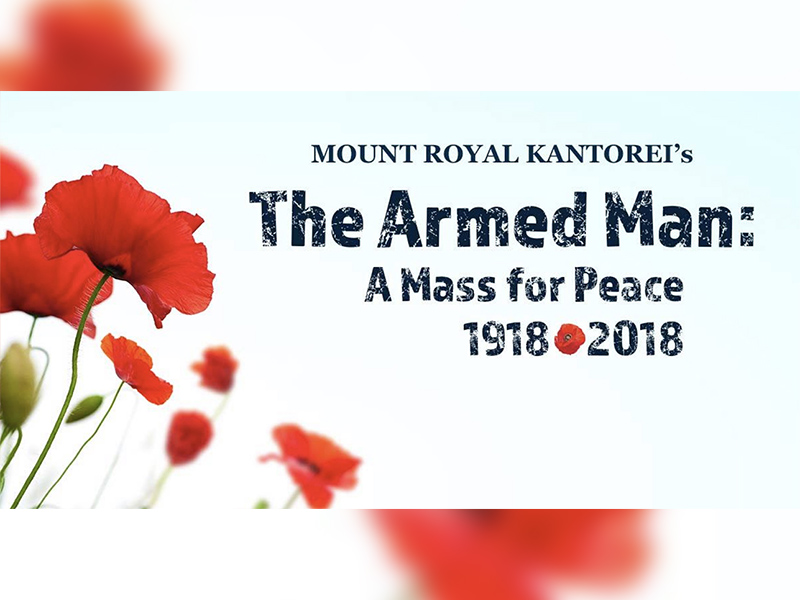 A poster for The Armed Man: A Mass for Peace 1918 – 2018