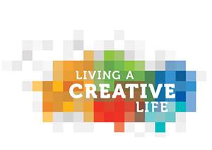 Image logo - Living a Creative Life Logo white