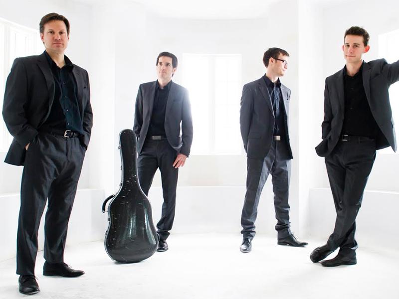 A promo photo of the Canadian Guitar Quartet